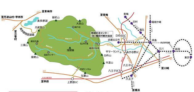 檜原村までの地図