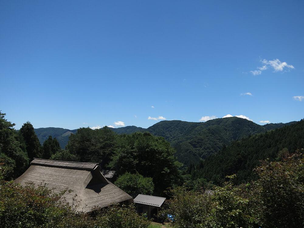 住宅を上から眺めた風景